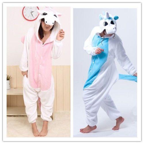Animaux Licorne Onesie unisexe Kigurumi Déguisements Hoodies Costume Pyjamas