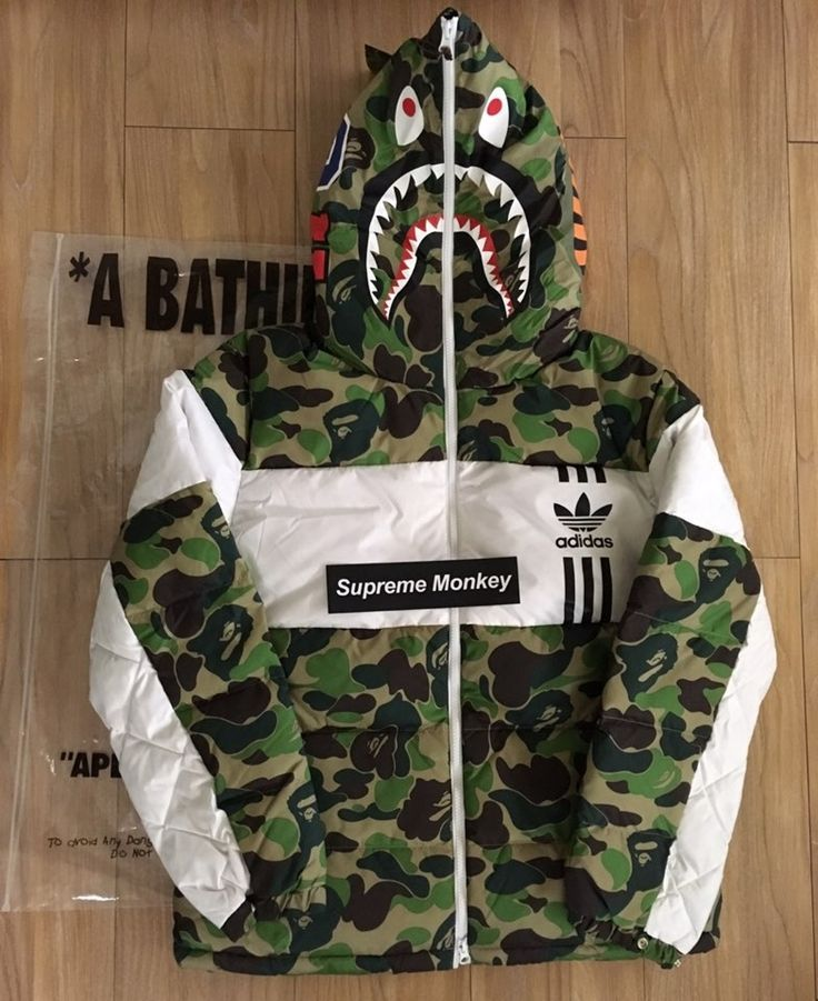 aee299f47f83 Bape Bape X Adidas Shark Down Jacket Size M  1300 - Grailed
