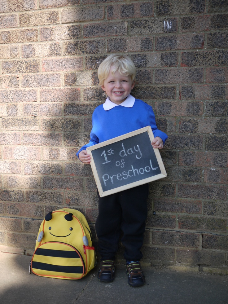 1st day of pre-school