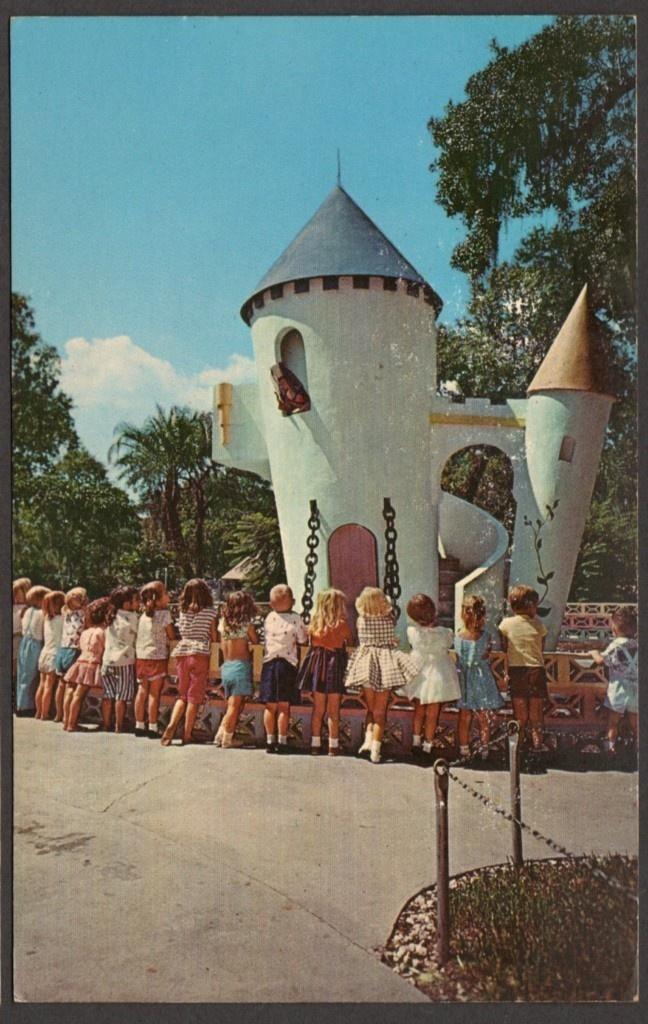 Colorful Fairyland Lowry Park Storybook Park Tampa Florida Postcard 1957 | eBay