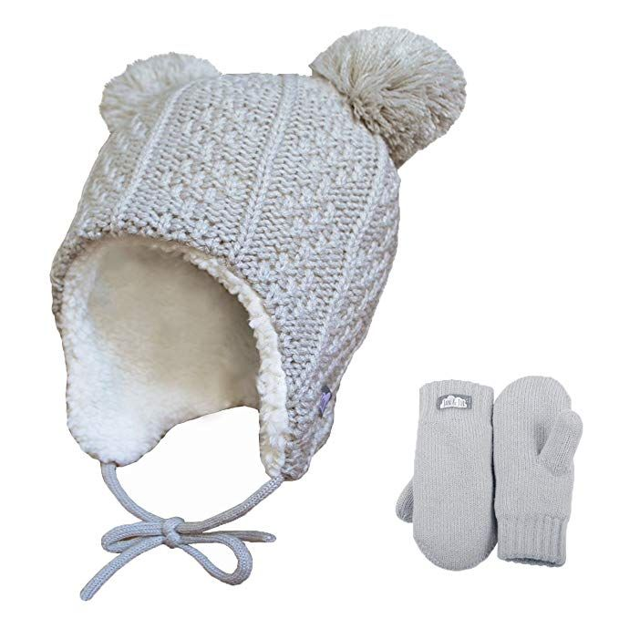 Twinklebelle Baby Toddler Winter Earflap Beanie Hat Mittens Review Earflap Beanie Winter Hats Toddler Winter