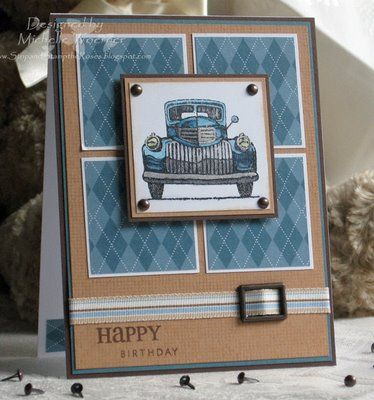 Masculine Birthday Cards to Make | heehee i needed to make a birthday card for bill s brother today and ...