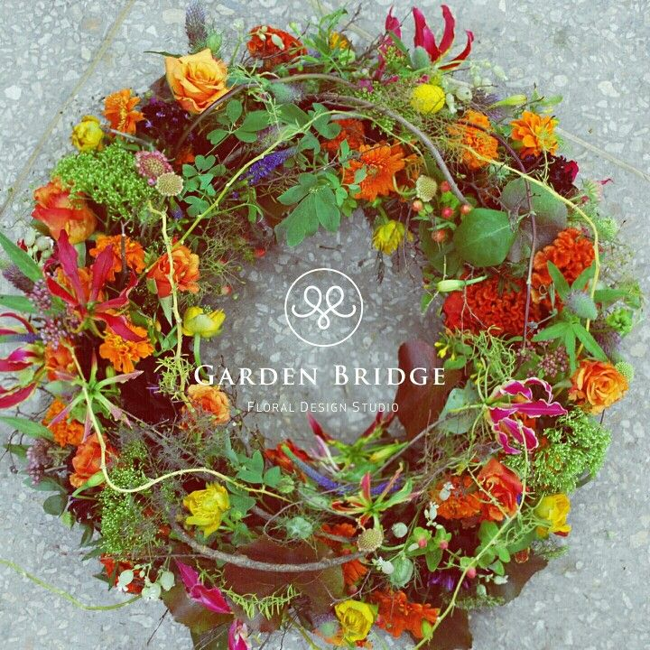 wreath flower  GardenBridge academy seoul korea florist