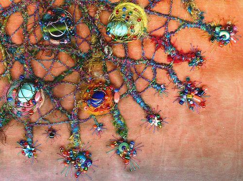 Gorgeous stitched fiber art.   via Flickr