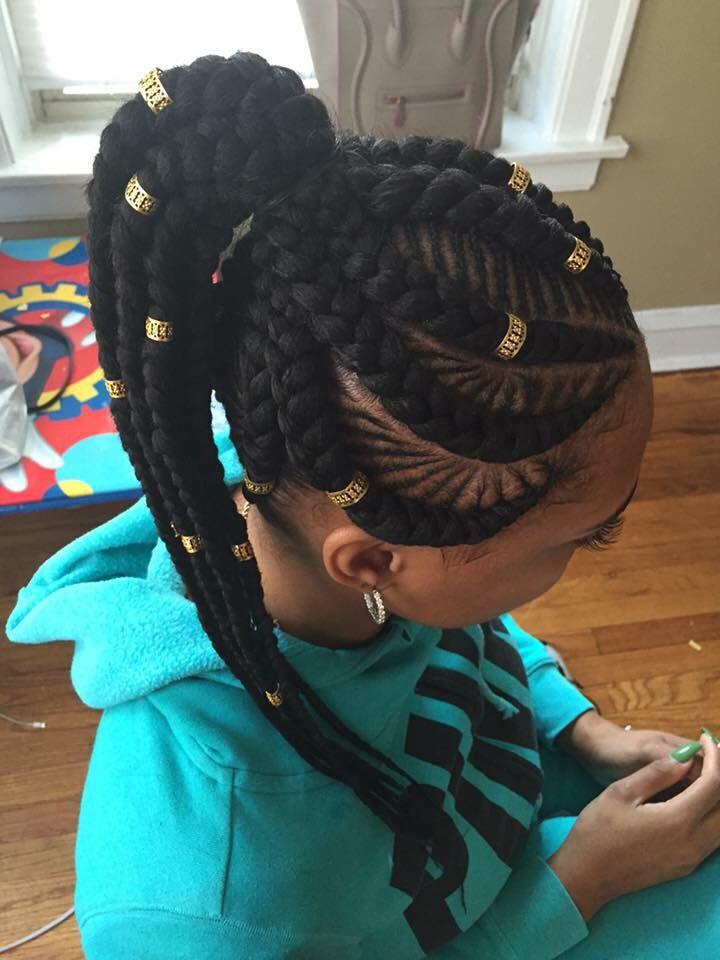 Cornrows and goddess braids.
