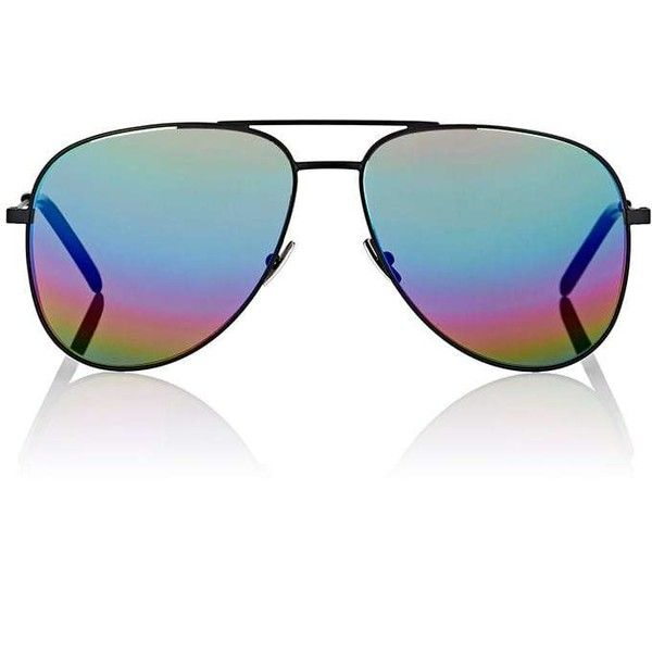 Saint Laurent Women's Classic 11 Rainbow Sunglasses (1.240 BRL) ❤ liked on  Polyvore featuring