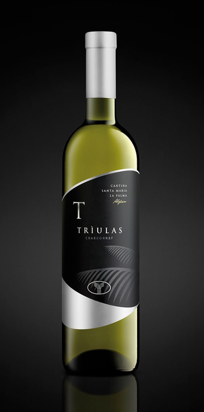 Triulas Chardonnay. Recently redesigned packaging by Quom3 (Italy) for Santa Mariala Palma winery.