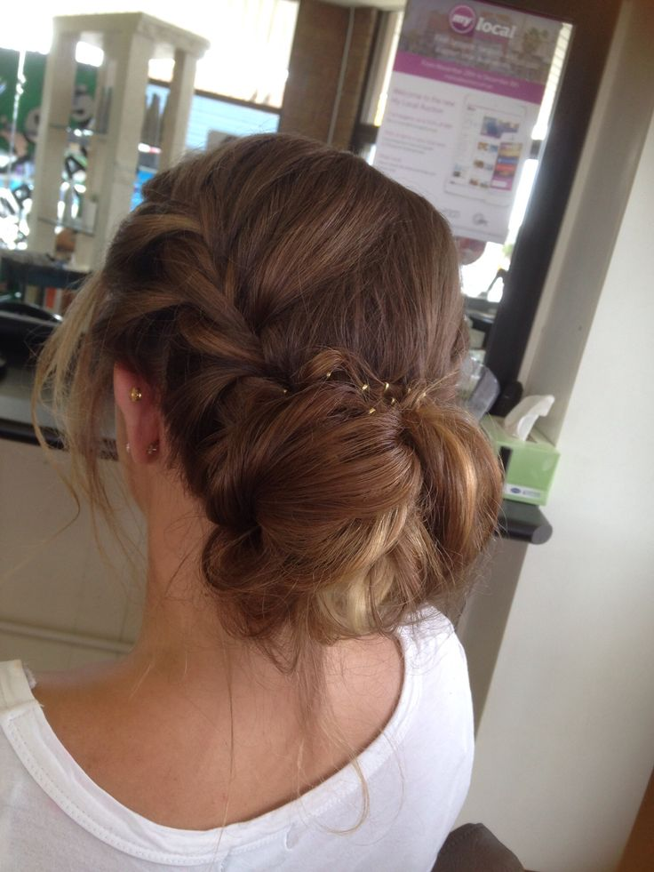 Formal hair #braid #bun #messybun