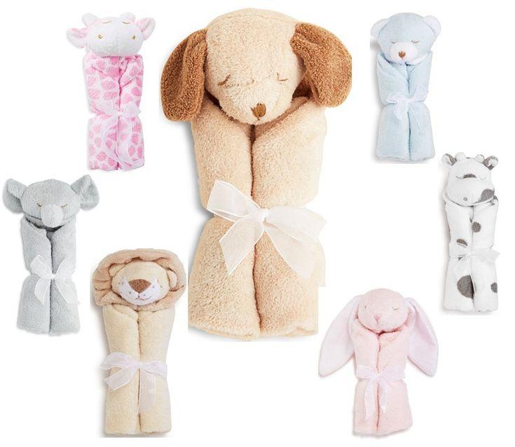 Baby blankie soft anumal blanket dog giraffe elephant lion bunny cow bear nursery decor #ad