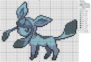 sandylandya@outlook.es  Today's pattern is one of the more popular pokémon, Glaceon!
