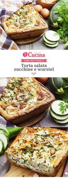 Torta salata zucchine e wurstel