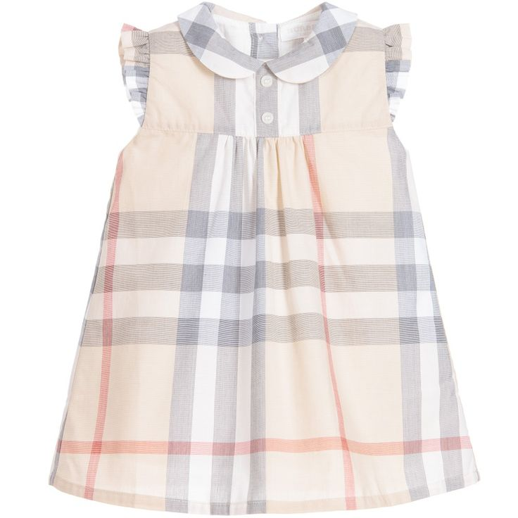 Burberry Baby Girls Pale Classic Check Dress & Knickers at Childrensalon.com