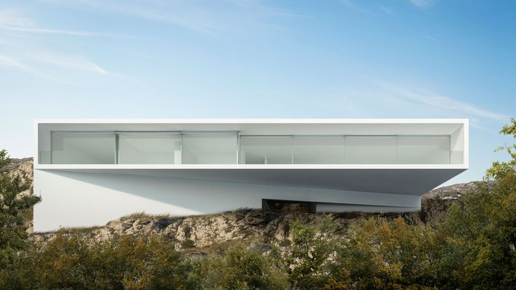 Minimal Hollywood house by Fran Silvestre Arquitectos juts out from steep hillside