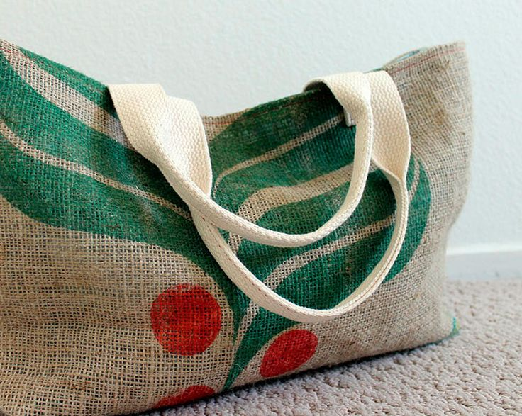 Upcycled Burlap Tote Tutorial