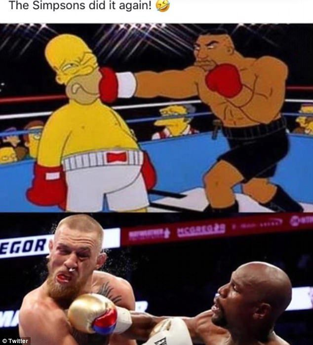 'Conor got hit so hard his snot came out like a Nike tick': Twitter erupts with memes as 'Money' Mayweather knocks out Conor McGregor in the tenth round