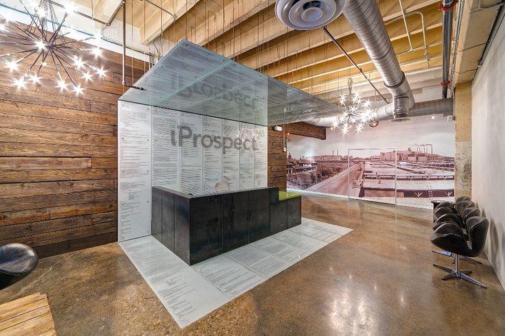 iProspect's Raw and Open Warehouse Offices | Corporate Reception Desk