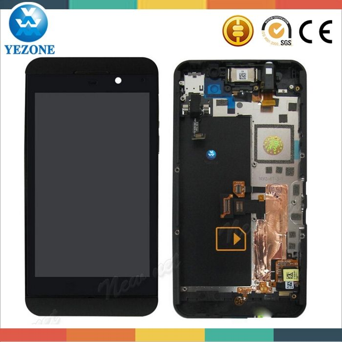9.5$  Watch here - OEM Cell Phone Parts New Black Color LCD Display With Frame Touch Screen Digitizer Assembly For Blackberry Z10 4G LCD Screen   #buymethat