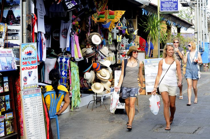 A bargain-hunter's dream: the colourful market stalls on Poppies I in Kuta, Bali. Image by Tom Cockrem / Lonely Planet Images / Getty Images