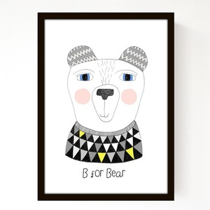 Image of B-For-Bear (A4) - love all of the sweet prints and custom tape!A4 B For Bears, Art, Illustration, Baby, Kids, Bears A4, Prints, Seventies Trees, Posters