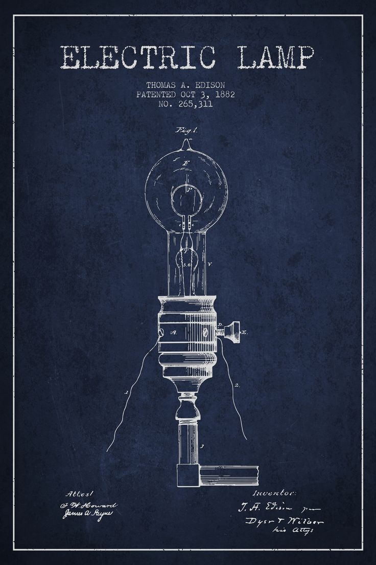 82 best industrial home design images on pinterest art print art electric lamp navy blue patent blueprint art print by aged pixel malvernweather Image collections