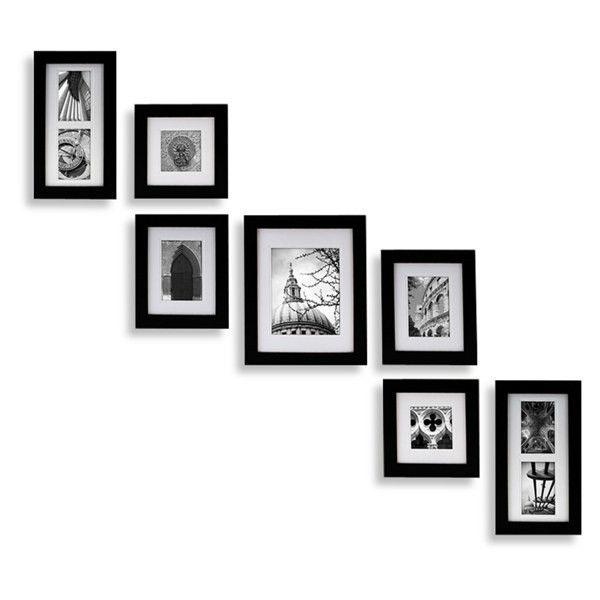 Create A Gallery Portrait 7 Piece Wood Frame Set Black (69 SGD