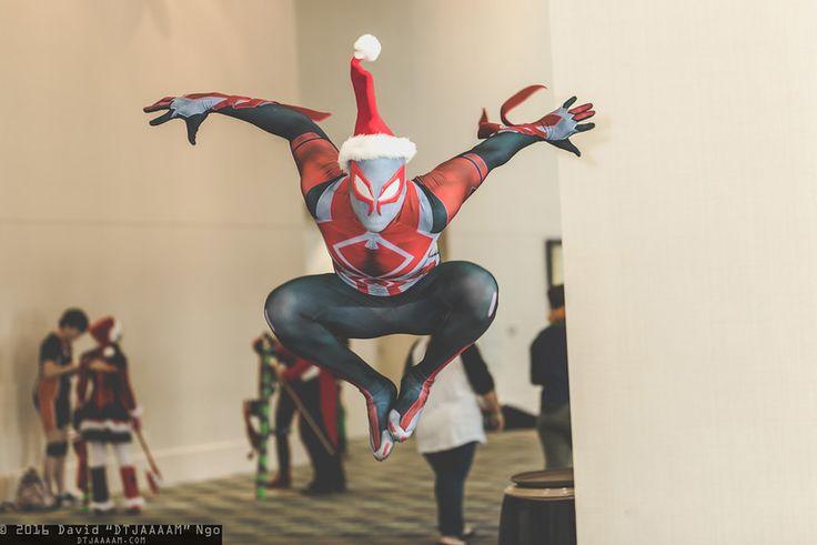 Spider-Man 2099 #Marvel #cosplay at Holiday Matsuri 2016, Photo by DTJAAAAM