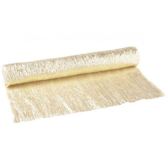 Decoratie materiaal, Gouden glimmende stof 40 x 200 cm bij Feestwinkel Fun en Feest Belgi�. Online Gouden glimmende stof 40 x 200 cm bestellen. Verzending