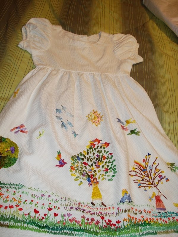 Embroidery on ready made dress