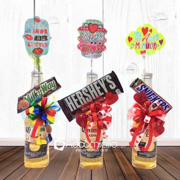 Regalos de Amor y Amistad Cali Unidad Cerveza decorada con chocolate.