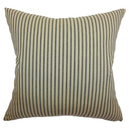 Striped cotton pillow with a down-feather fill. Made in the USA.  Product: PillowConstruction Material: Cotton a...