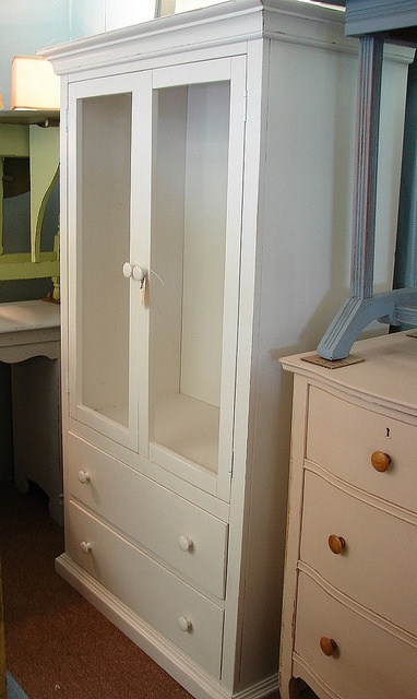 I Like The Creamy Dresser With Wood Stained Knobs For My Chifferobe.  Pottery Barn Painted White Reclaimed 2 Drawer Armoire Chifferobe Cabinet  Wardrobe, ...