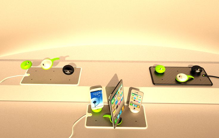 JOS Technology provides a lot of models for wireless charging in three colors: white, black and green.