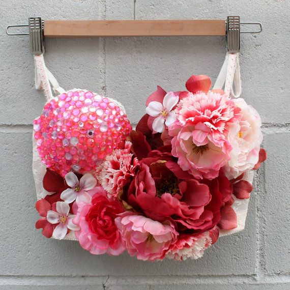 Pink Peony Fairy Rave Bustier & Tutu Outfit by EverydayArmour