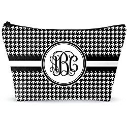 """Houndstooth Makeup Bag - Large - 12""""x8"""" (Personalized)"""