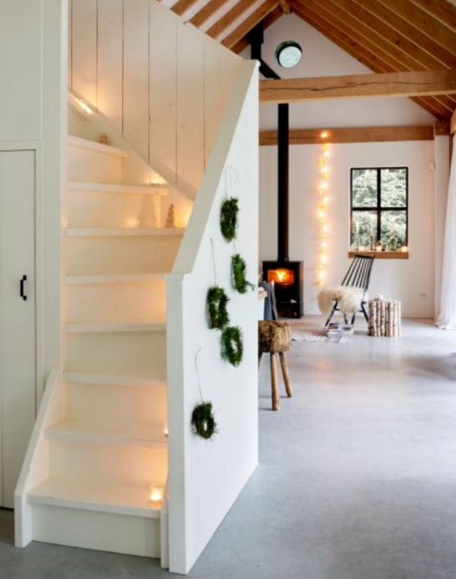 "This festively decorated staircase is from our feature ""Holy Nordic Night"""
