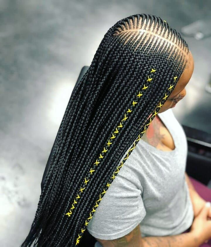 Image May Contain One Or More People Braided Hairstyles African Braids Styles Cool Braid Hairstyles