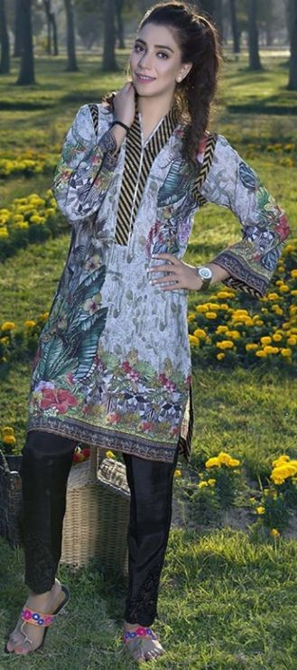 Pakistani women dresses Printed Ladies Kurta Design 2017-18 By Motifz #Pakistaniwomendresses