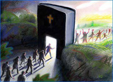 """Because strait is the gate, and narrow is the way, which leadeth unto life, and few there be that find it."" Matthew 7:14. The bible is the narrow way??? The only way???:"