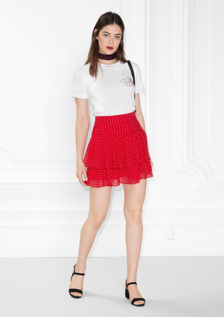 Other Stories image 1 of Frill Skirt in Red