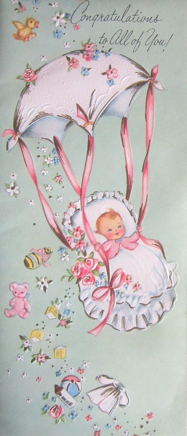 Vintage-Baby-Congratulations-Greeting-Card-Parachute-Little-Girl-and-Toys Vintage-Baby-Congratulations-Greeting-Card-Parachute-Little-Girl-and-Toys Vintage-Baby-Congratulations-Greeting-Card-Parachute-Little-Girl-and-Toys Have one to sell? Sell now Vintage Baby Congratulations Greeting Card Parachute Little Girl and Toys