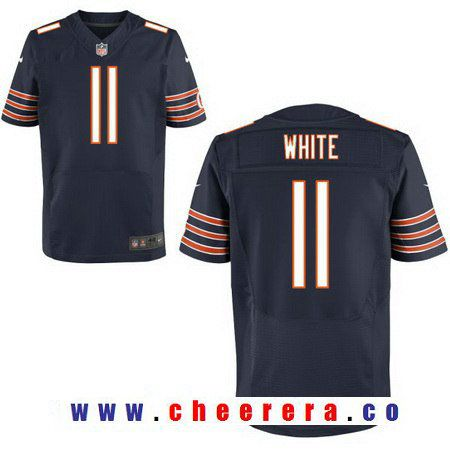 Men's Chicago Bears #11 Kevin White Navy Blue Team Color Stitched NFL Nike Elite Jersey