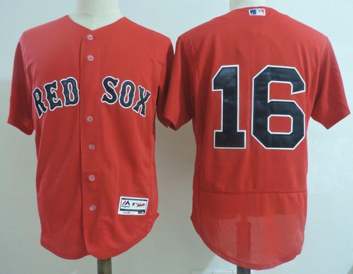 free shipping ef113 06679 Men Boston Red Sox 16 Andrew Benintendi Red Elite MLB ...