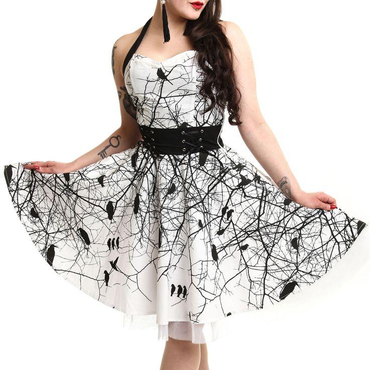 Vestido Dark Crown de #Vixxsin  #Goth #gotico #vestido #pinup #cuervo #raven