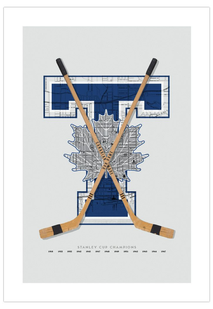 Toronto Maple Leafs-Inspired Hockey Art Poster from ManMade Art