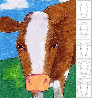 Art Projects For Kids - Cows are funny like the Chik-fil-a cows :)