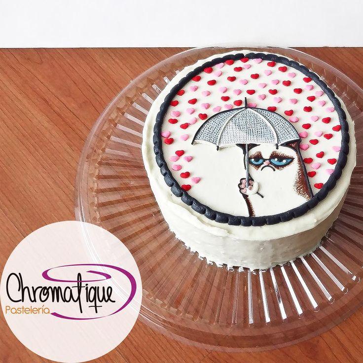 Grumpy Cat cake (Torta del Gato Gruñón) https://www.facebook.com/ChromatiquePasteleria/