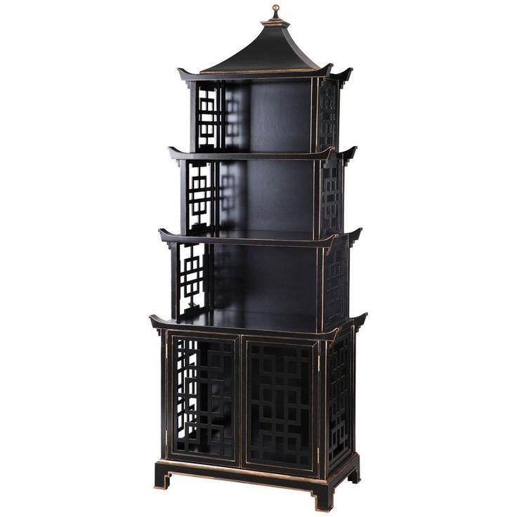 Bungalow 5 Pagoda Shelf in Black
