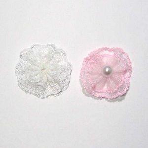 Lace rosettes for hair clips: Hair Clips, Lace Rosettes, Caidyn Hair, Craft Ideas, Crafty Ideas