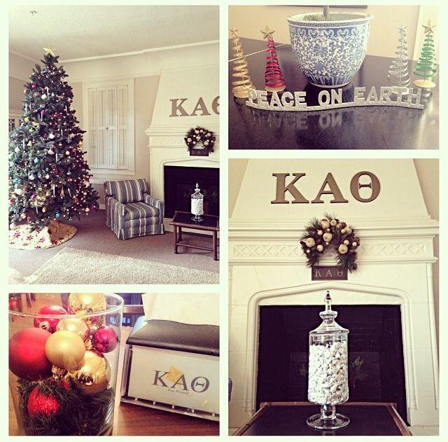 Kappa Alpha Theta, Phi/Pacific holiday decorations. #thetaholidays #theta1870