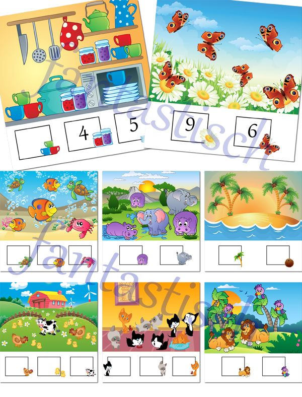 Играем до школы: Математические карточки для занятий с детьми. Обуч...